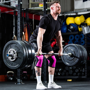Crossfit in Murgs 7mm pink knee sleeves