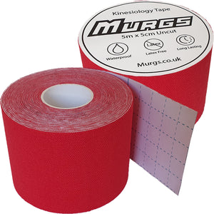 Murgs Hand Tape Kinesiology Tape 5m Roll Red