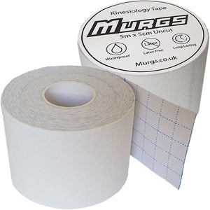 Murgs White Hand Tape/ Kinesiology tape 5m roll