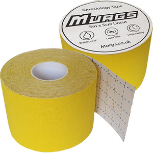 Murgs Yellow Hand Tape/ Kinesiology tape 5m roll