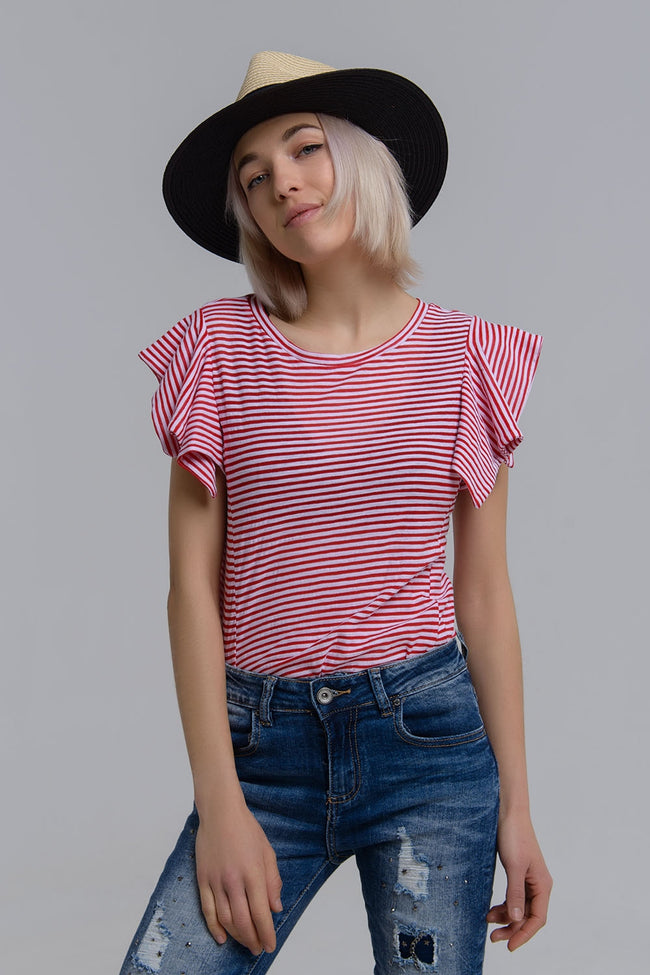ab30bfb70ea0 Red stripes short sleeve tee – Julicci.com