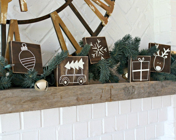 Christmas Gift - Mini Rustic Christmas Signs - Christmas Decor - Christmas Tree - Holiday Sign - Christmas Decoration - Distressed Sign Home