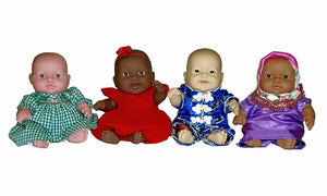 It's not about the skin color, it's about loving you! Giving a Doll.