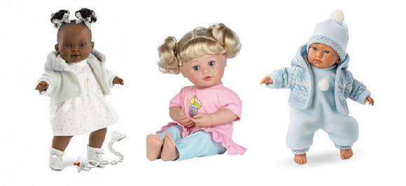 Four of our most popular Crybaby Dolls