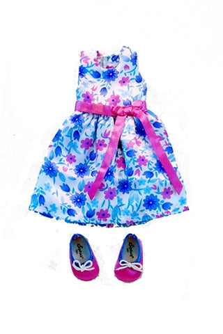 For 14.5 Inch Dolls:  Summer Party Sleeveless Dress in Floral Print