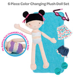Color changing doll and accessories 6 piece set