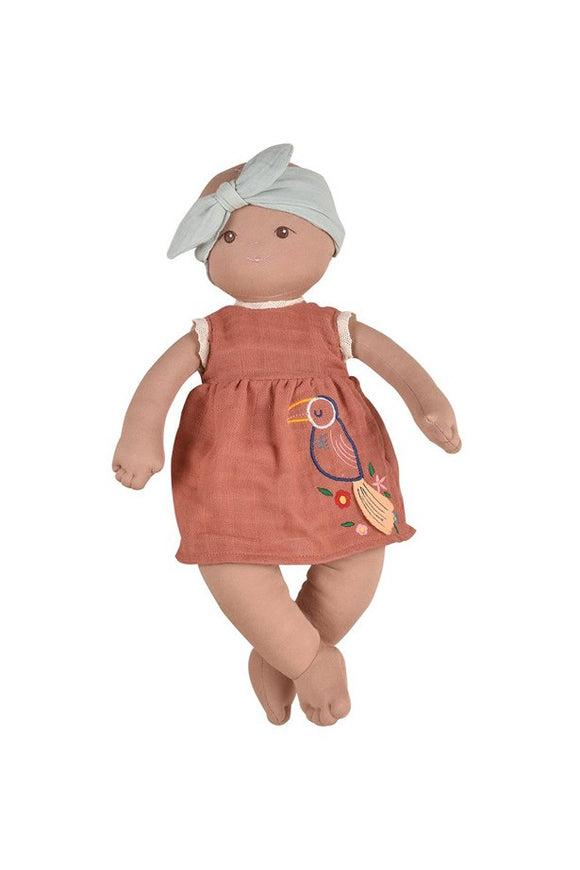 Aria, The Lifesized Soft-Sculpt Black Baby Rag Doll for Children