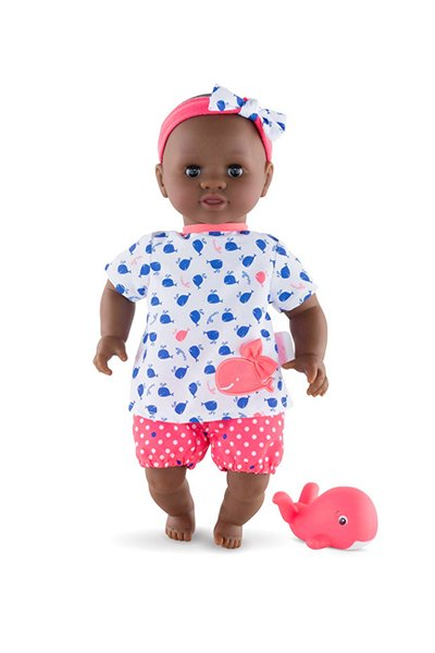 Bébé Bain Alyzee a Black Baby Doll and Bathtub Toy by Corolle