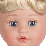 Close up portrait of our new Cuddle & Coo cry baby doll by Adora