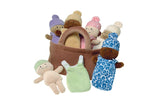 A basket of babies is an educational activity set of six multicultural dolls