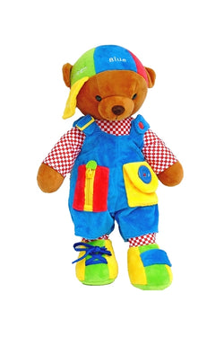 Bluebeary large stuffed plush Learn to Dress Teddy Bear