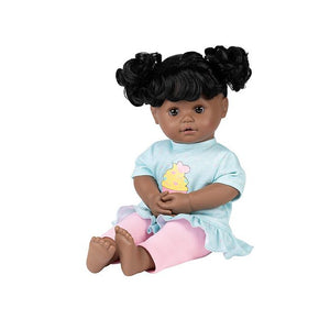 Black cry baby doll, toddler size with brushable hair