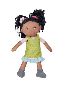 Cari, a all cloth African American or Black first doll for girls by HABA