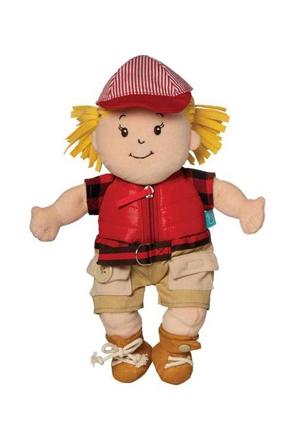 Baby Stella camper Girl Learn to Dress Doll by Manhattan Toy