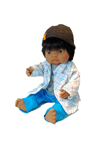 Carlos, a latino or Biracial boy doll for children