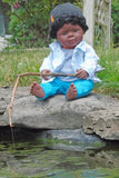 15 inch african american black boy doll for children's play