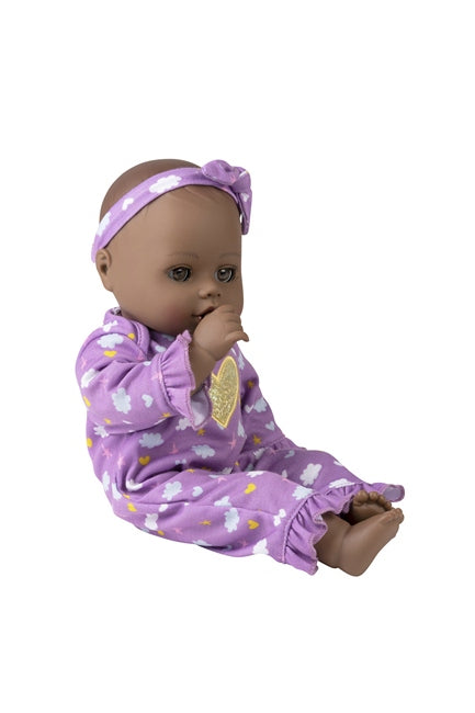 Evening Dreams Classic Black Baby Doll by Adora, sucking her thumb