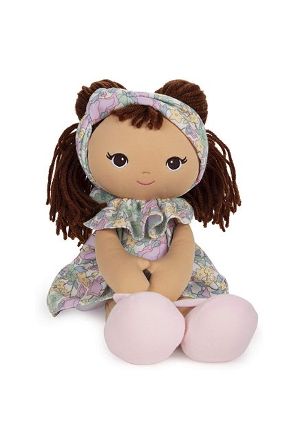 Green Garden our new Biracial, hispanic, or multicultural rag doll for baies