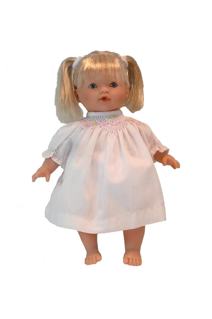 Blonde and blue eyed pretty little girl's doll Ivy, made in Spain