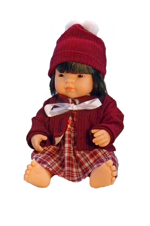 Our most beautiful Asian Girl Doll for Children 15 inch vinyl with rooted hair