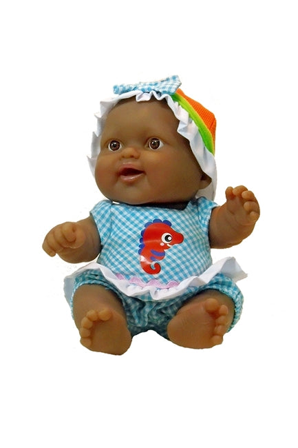 Seahorse Smiles, a 'Lots to Love' Chubby Black Baby Doll for ages 2+