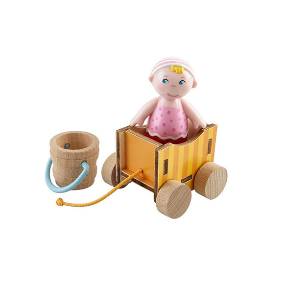 Little Friends Playset: Baby Nora 3pc Dollhouse Doll with Wagon & Pail