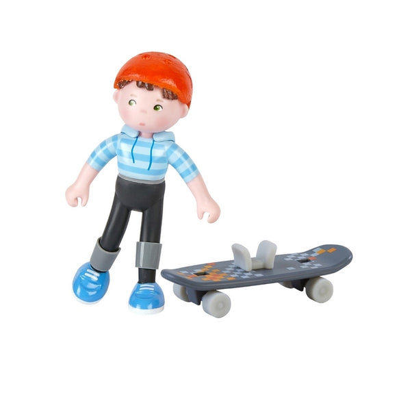 Boy Skateboarder Dollhouse Doll from HABA Little Friends