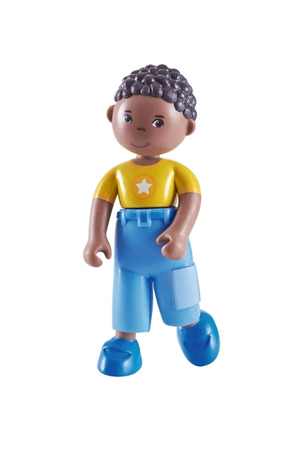 HABA Little friends Erik a poseable Black Boy Dollhouse Doll