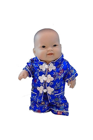 Asian 'Lots to Love' Baby Doll in hand made in Tangzhuang Suit