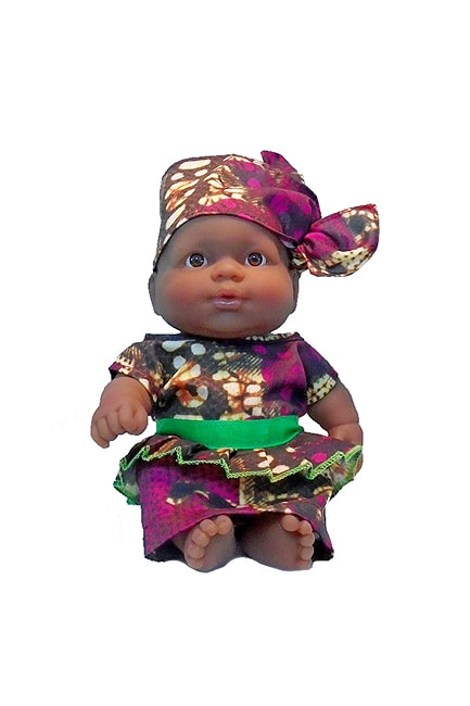Lots to Love Ethnic Doll Collection Black Baby Girl in Dhuku and Kente