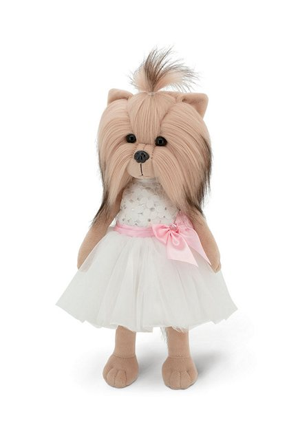 Miss Yorkie Elegance hybrid stuffed animal and fashion doll for children