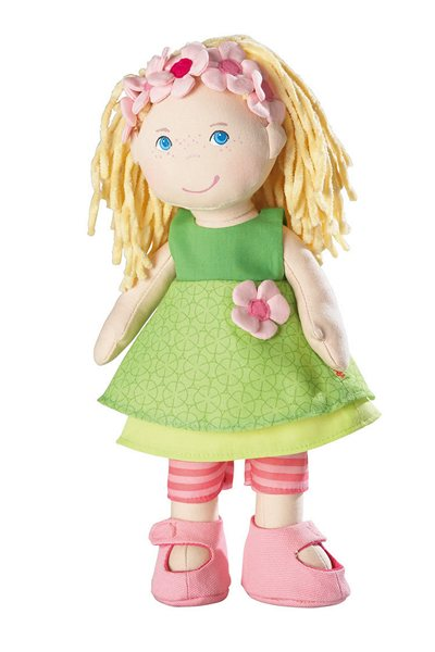 Molly, a 12 inch blonde girl cloth doll from HABA