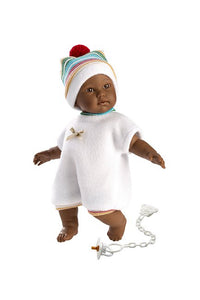 Morgan, the Black Baby Doll / Cry Baby Doll with bonus Swaddle Sack