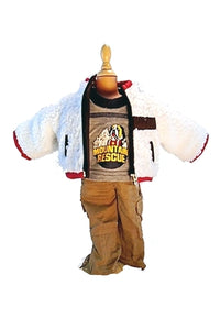 For 18 inch Boy Dolls: Mountain Rescue, 3pc Outdoor Adventure outfit for Dolls