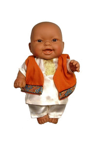 Multicultural Baby Doll in South Asian Kurta Pyjamas