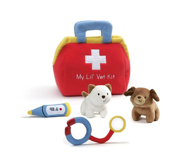 Gund's Little vet kit and activity toy and playset for toddlers play