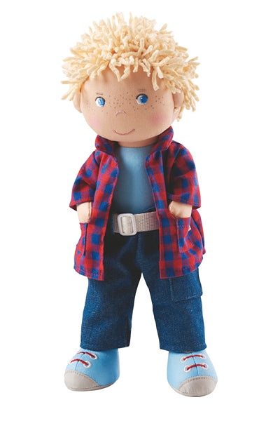 Nick, a boy doll from HABA