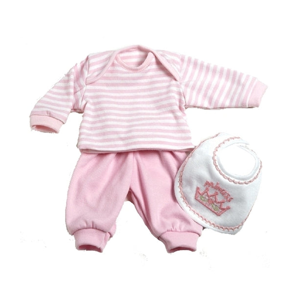 3 piece pink playtime outfit for 12 and 13 inch baby dolls