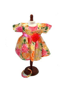 For 15 inch Dolls: Island Breezes Silky Floral Print Dress