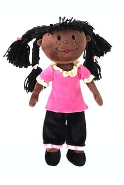 Skye from StinkyKids an African American rag doll