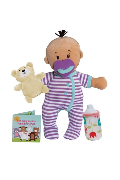Sleepy Time Scents Wee Baby Stella Gender Neutral Baby Doll for Children of Color