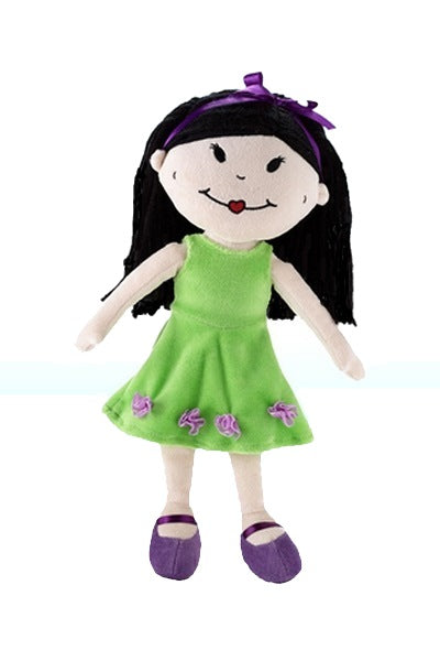 Stinky Kids Hannah, an all cloth Asian Girl doll 12 inches