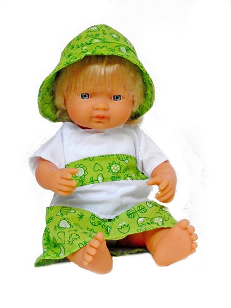 15 inch all vinyl blonde baby doll for children