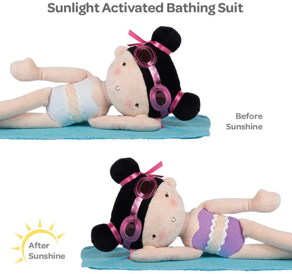 Sunshine friends Doll with  UV activated color changing bathing suit
