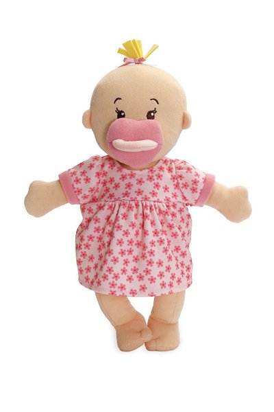Wee Baby Stella plush doll with magnetic pacifier from Manhattan Toy Company