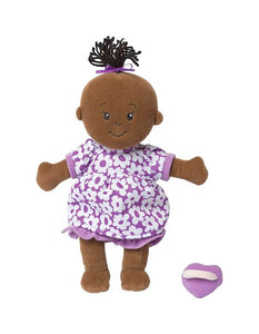 The Black wee baby stella doll with the famous magnetic pacifier
