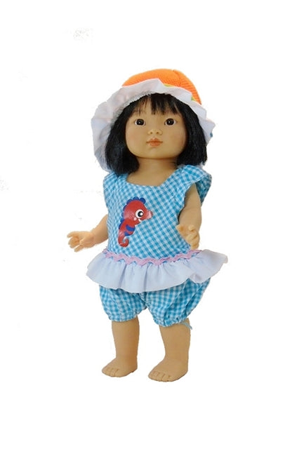 For Dottie Aja Dolls: Two Piece Romper Set Seahorse Smiles