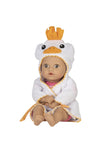 Water Baby and Bathtub toy Ducky has a removable terry hoodie robe