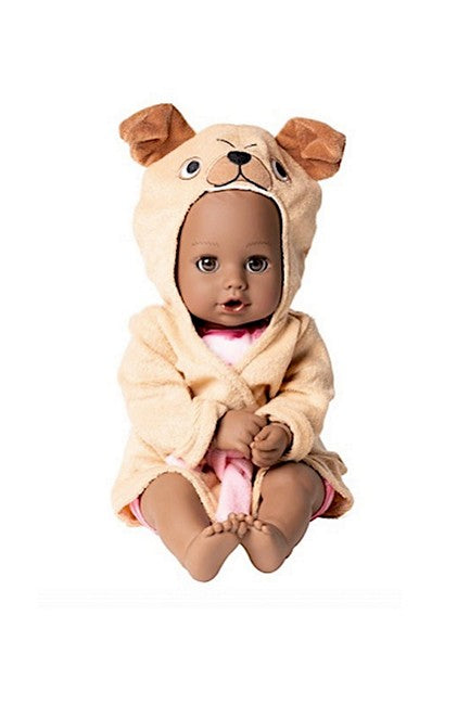 Black baby doll from Adora Puggy love is also a waterbaby