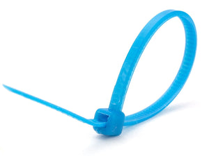 "Pack of Blue 100mm/4"" Cable Ties"